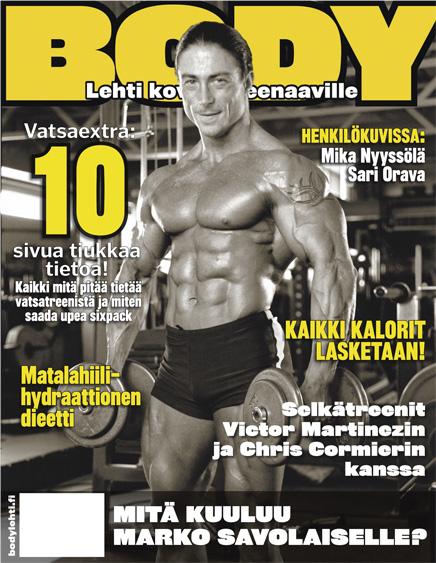 Mika Nyyssölä Body-lehden kannessa 2005