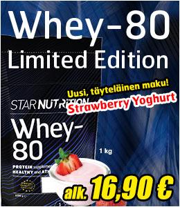 Whey-80 srawberry yoghurt
