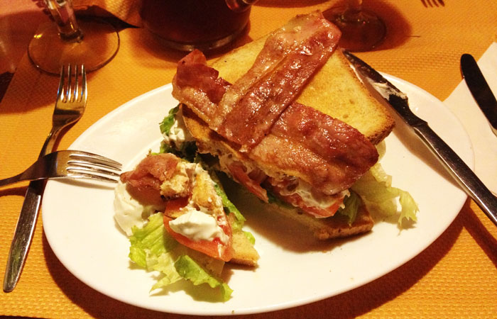 club sandwich rustico