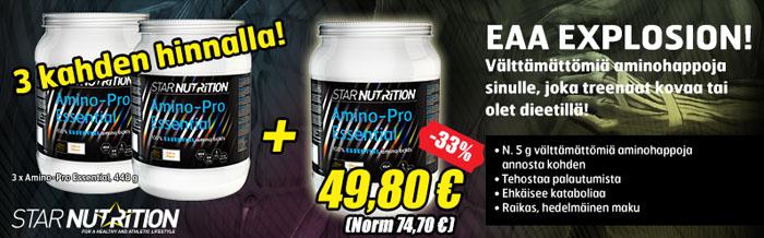 amino pro essentials 3 kahden hinnalla