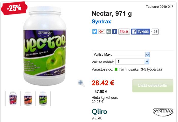 nectar tarjouksessa